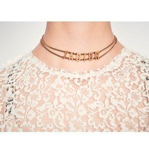 J'adior choker necklace